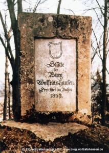 Erinnerungsstein zur Burg Wolfratshausen