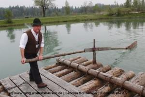 Zur Jubiläumsfeier gab es auch eine Floßfahrt auf dem Lech. (c) Sabrina Schwenger