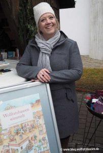 Mo Büdinger signiert das Wimmelbuch Wolfratshausen